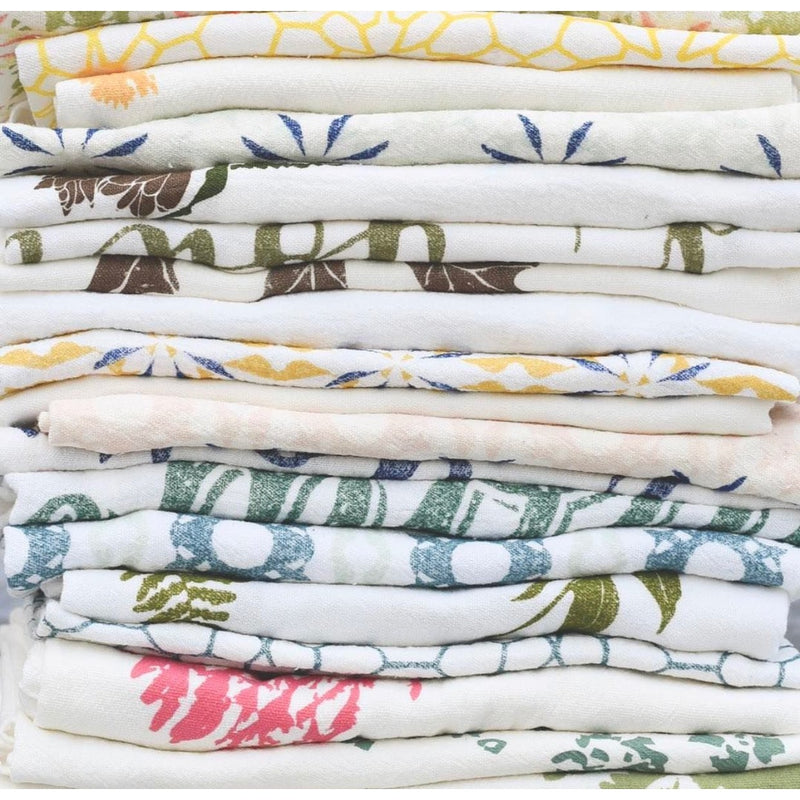 Organic Cotton flour sack towels printed with designs from nature.  Available at Small Batch Graphics + Goods.  New Bern, NC>