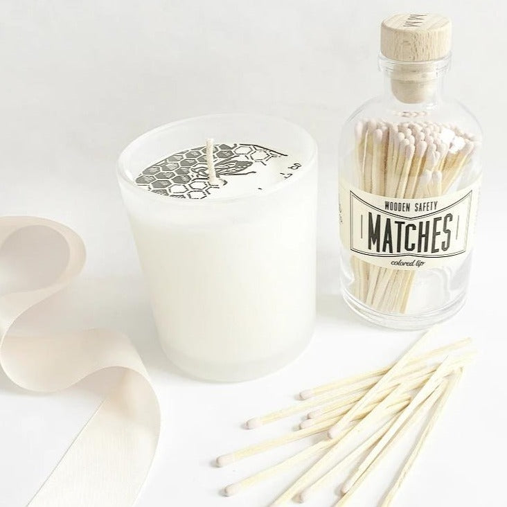 All natural soy candle and vintage matches. Makes a great gift. New Bern NC