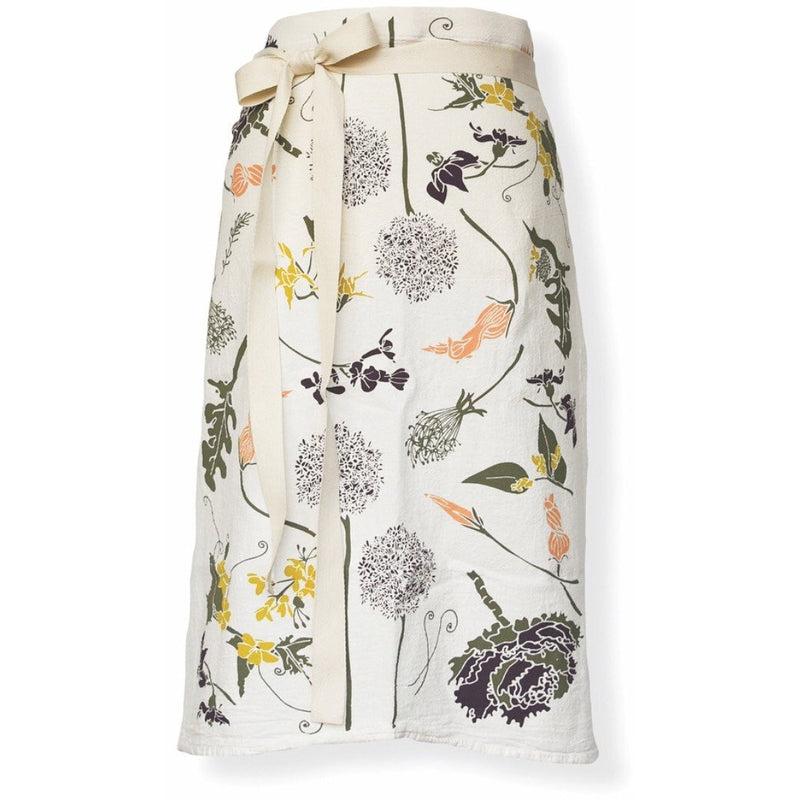 garden flowers bistro apron from June & December; all natural, pre-shrunk and machine washable