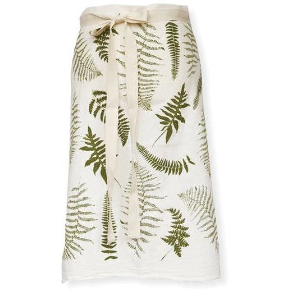 ferns bistro apron from June & December; all natural, pre-shrunk and machine washable