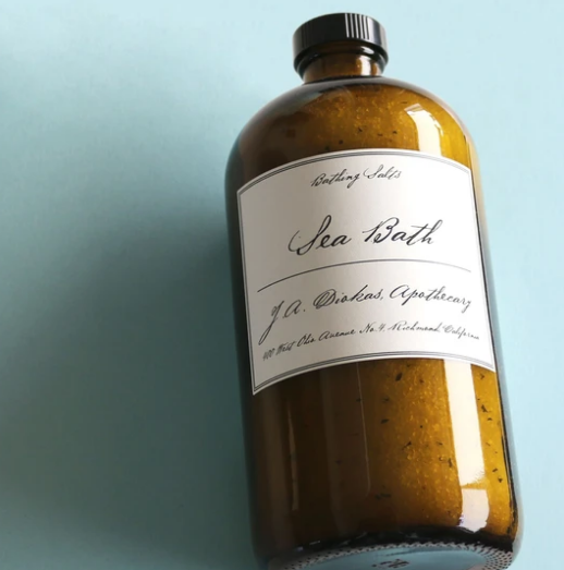 All natural Apothecary bath salts by Jane available in large and small sizes at Small Batch in New Bern NC