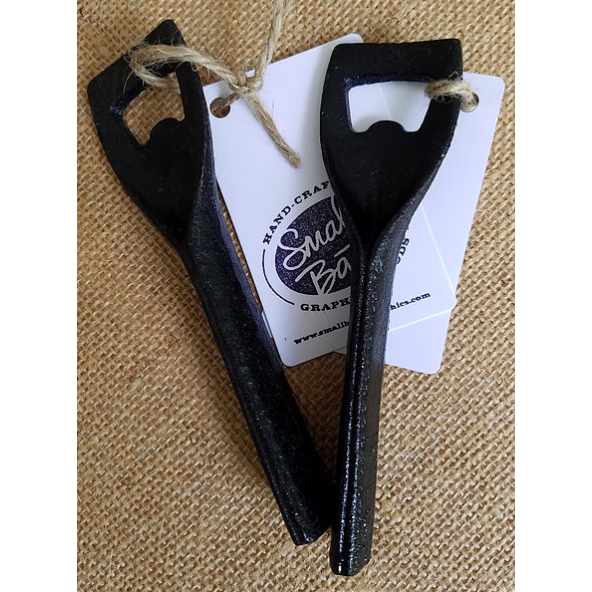Buckle Strap Opener, bar accessory, opens beer and wine bottles, available at Small Batch Graphics and Goods in New Bern, NC