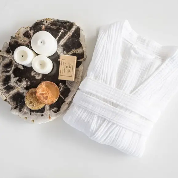 100% cotton robe with the softest texture is great for drying right out of the shower, bath, pool or just lounging around in.