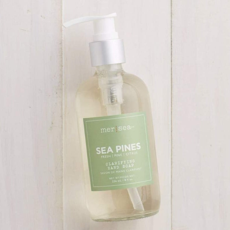 Sea Pines liquid hand soap with notes of fresh pine. SmallBatch Gallery new bern nc