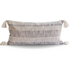 Striped Charcoal and Cream Cotton Pillow