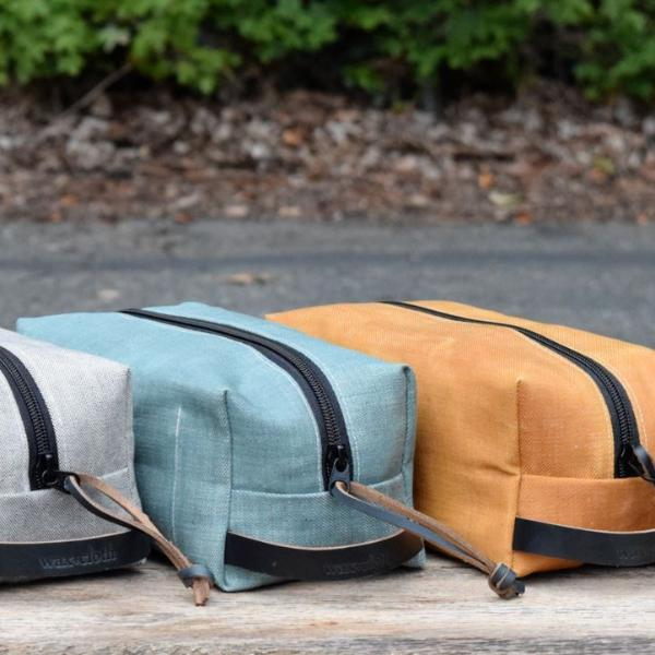 Waxed Canvas Dopp Kits