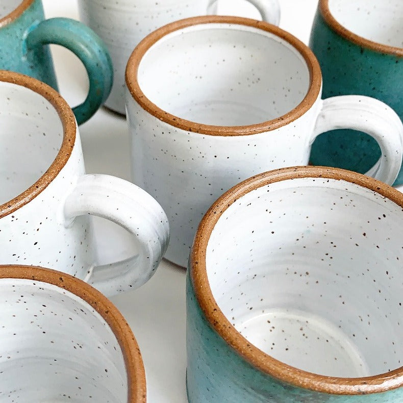 Morehead City, NC made ceramic mugs available at Small Batch New bern nc