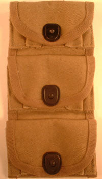 1917 3 Pocket Pouch for 1/2 Moon Clips .45 Caliber