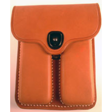 PCL-39-L-PLAIN-TAN <br> 1911 Leather 2 Pocket Pouch Plain Tan