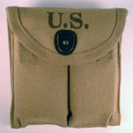 M-1 Carbine Canvas 2 Pocket Pouch US Tan
