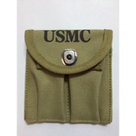 M-1 Carbine Canvas 2 Pocket Pouch USMC Tan