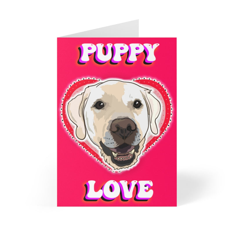 Golden Lab Puppy Love Card Pack