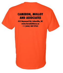 Alex Cameron 'Construction tee' - Orange