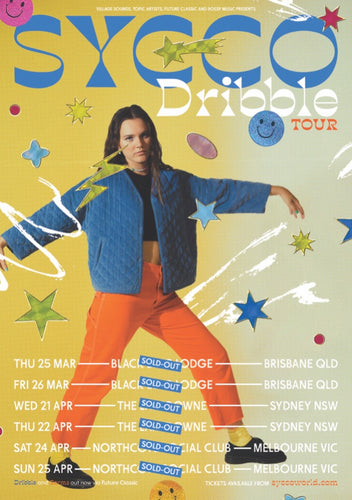 Limited Edition Dribble Tour Poster - Merch Jungle
