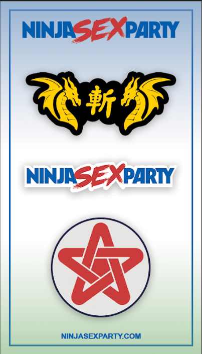 Ninja Sex Party - Pins - Merch Jungle