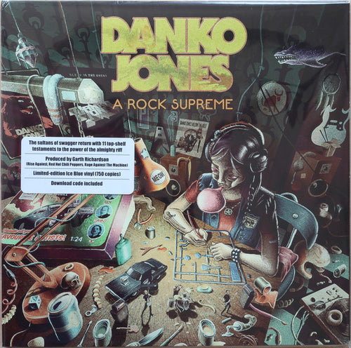 DANKO JONES - A Rock Supreme Vinyl (Limited Edition Ice Blue) - Merch Jungle