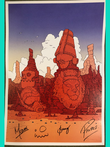 TWRP - Moebius - Signed Poster - Merch Jungle