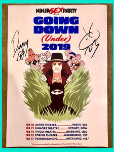 Ninja Sex Party - Signed Tour Poster - Merch Jungle