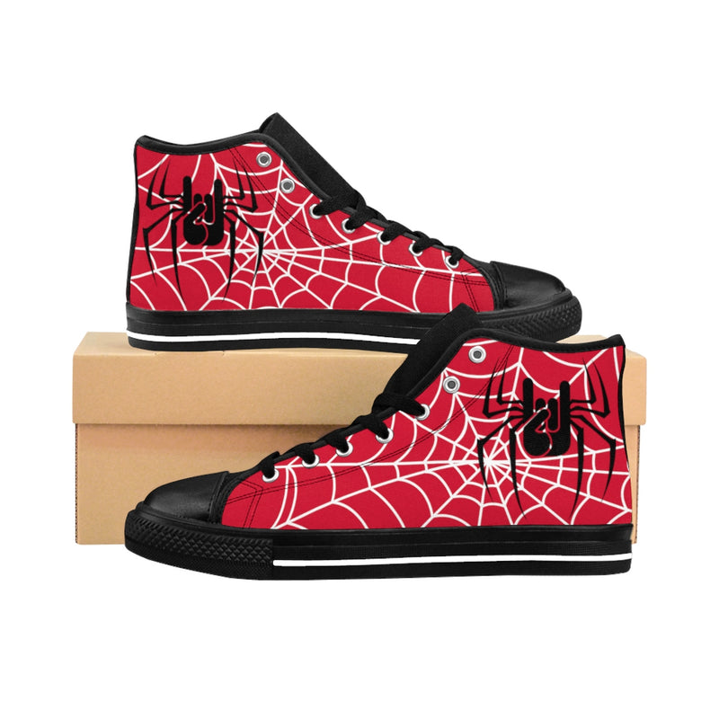 Baskets rouge spiderweb, oh yeahhh, rock, metalhorns, metal, converse