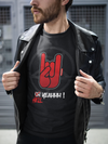 T shirt rock metal horns oh yeahhh hell yeah