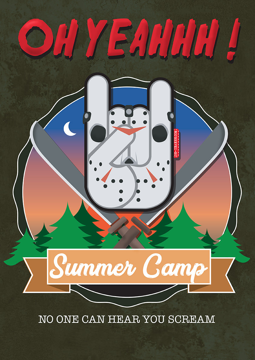 "Poster OH YEAHHH - ""Summer Camp Metal Horns"""