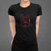 T-shirt Femme  Oh Yeahhh Metal Horns Black & Red