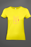 T-shirt femme Metal Horns Yellow