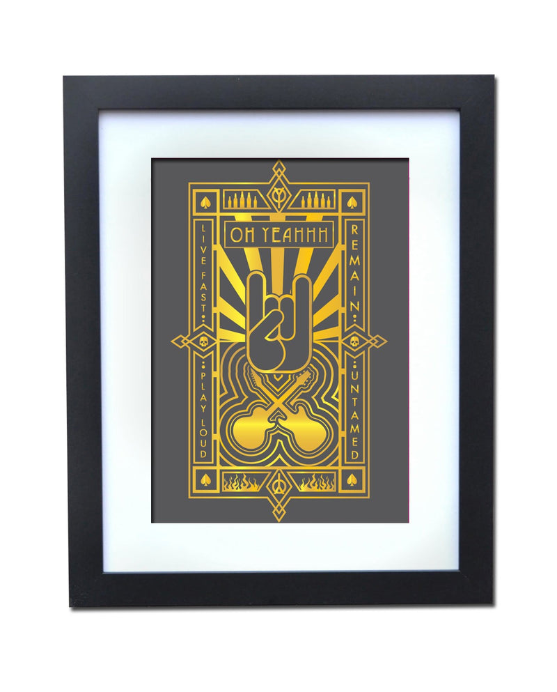 Poster OH YEAHHH Metal Horns Art Déco 2