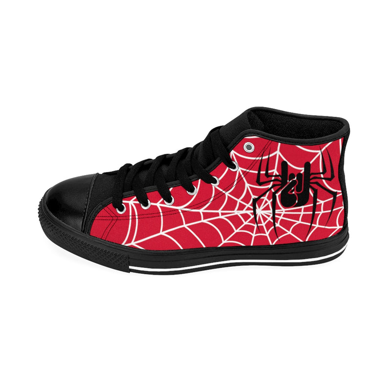 Baskets red spiderweb oh yeahhh rock, metalhorns, metal converse