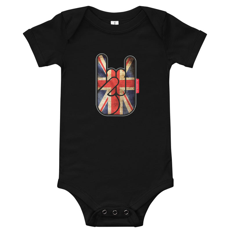 body bébé oh yeahhh metal horns devils sign baby union jack