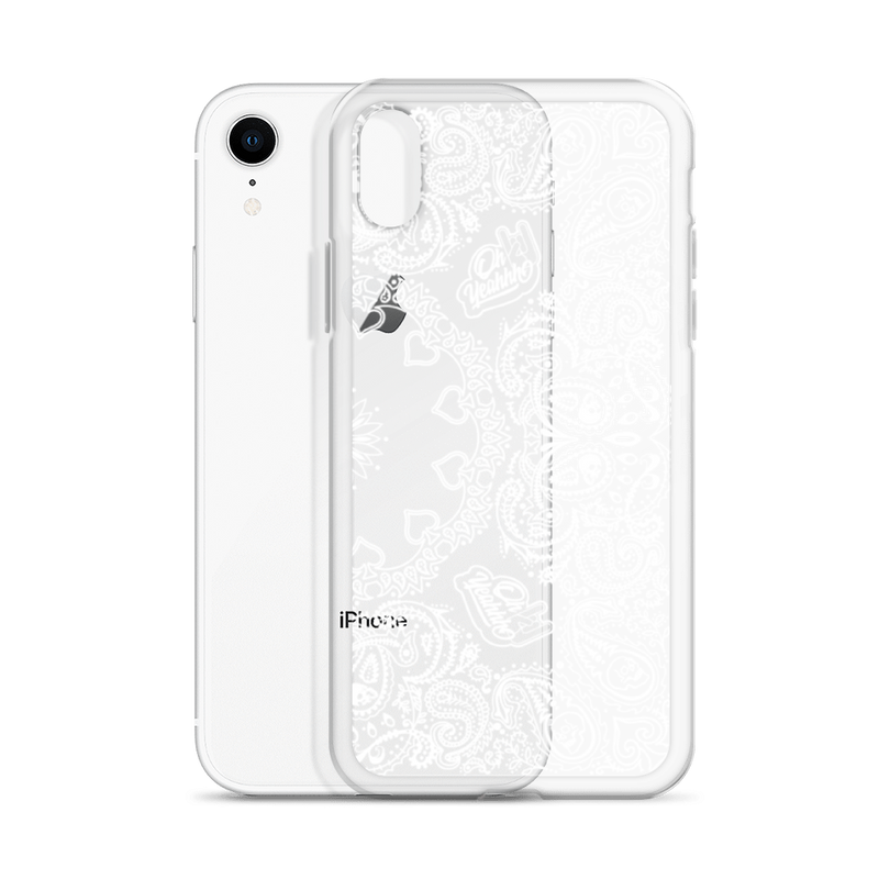 "Coque Oh Yeahhh ""Bandana blanc transparent"" pour iPhone"