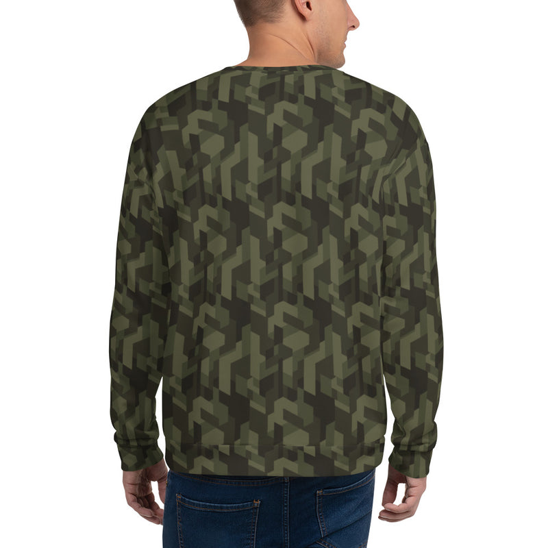 Sweatshirt, sweat rock camouflage, impression intégrale, metal, metalhorns, metal sign