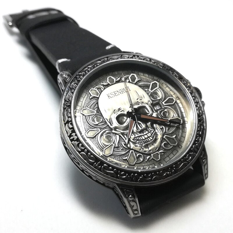 Montre homme - Fashion 3D SKULL Men Watches