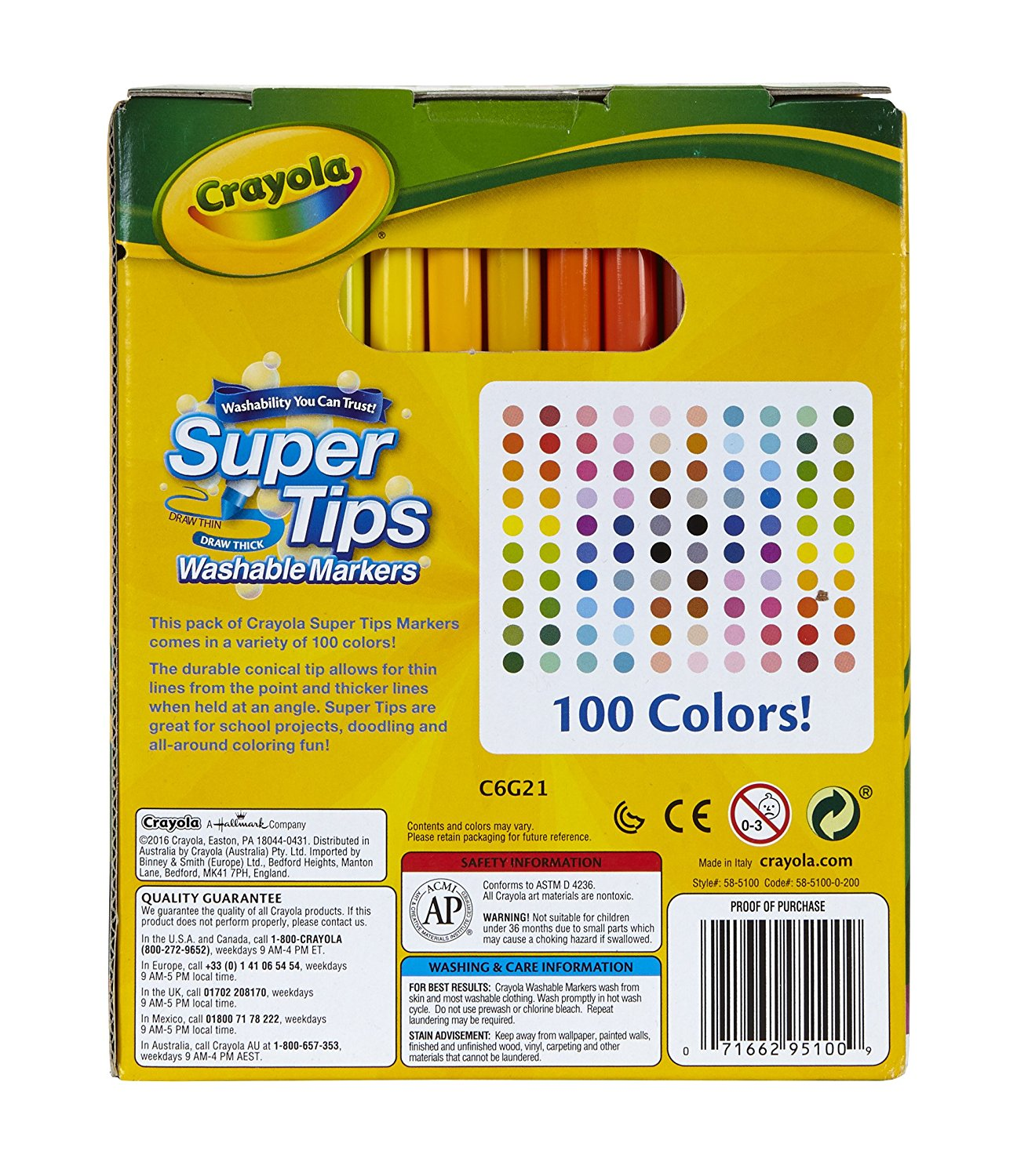 Crayola Super Tips Washable 100 Count Markers – Avex Retail