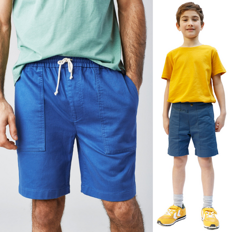 Surf shorts for men and kids (Jackalo's Nickie shorts)