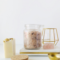 Pink sea salt scrub