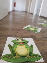 "Load image into Gallery viewer, Fußbodenfolie ""Motorikbahn - Frog Jump!"""