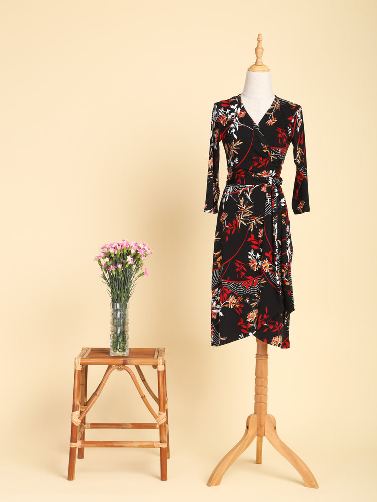 Mieko Midi Wrap Dress