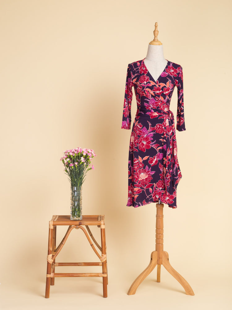 Orchidee Midi Wrap Dress