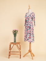 Tea Party Midi Wrap Dress