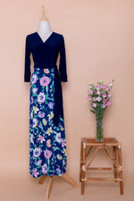 Azur Maxi Wrap Dress