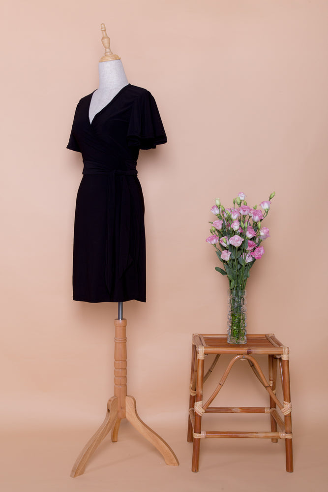 Noir Standard Wrap Dress