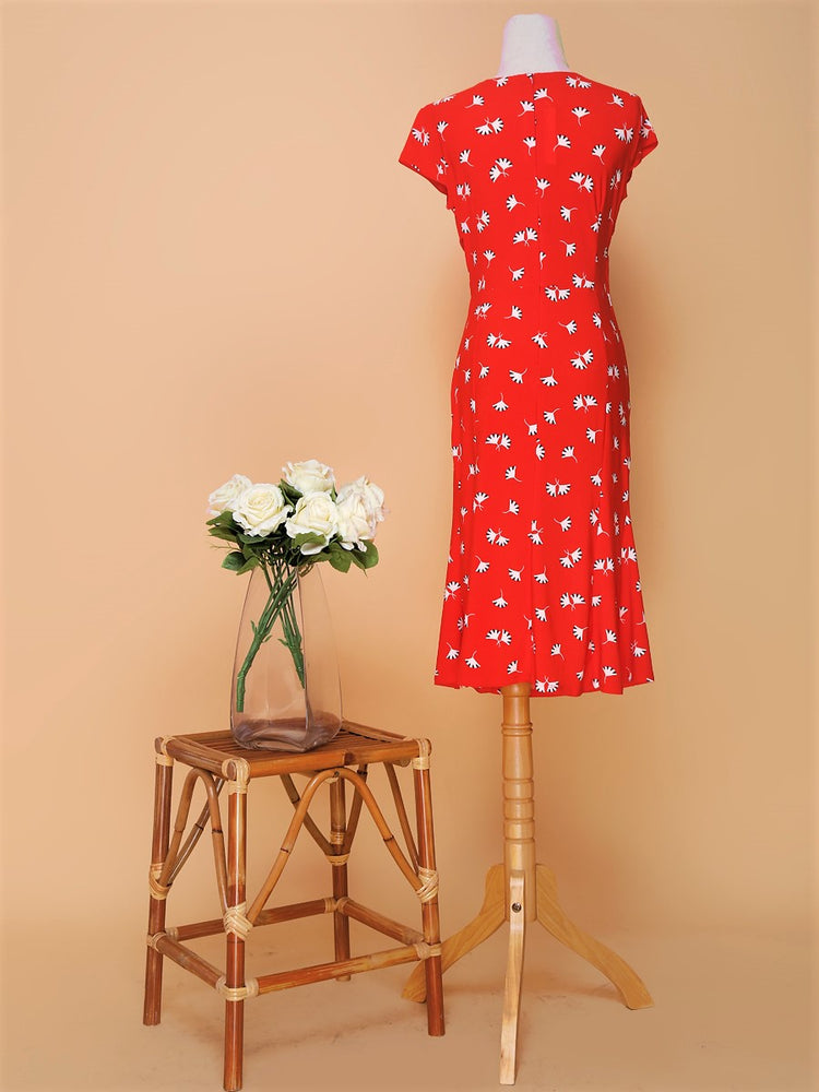 Hana Side-Gather Dress (Lucky Gingko)