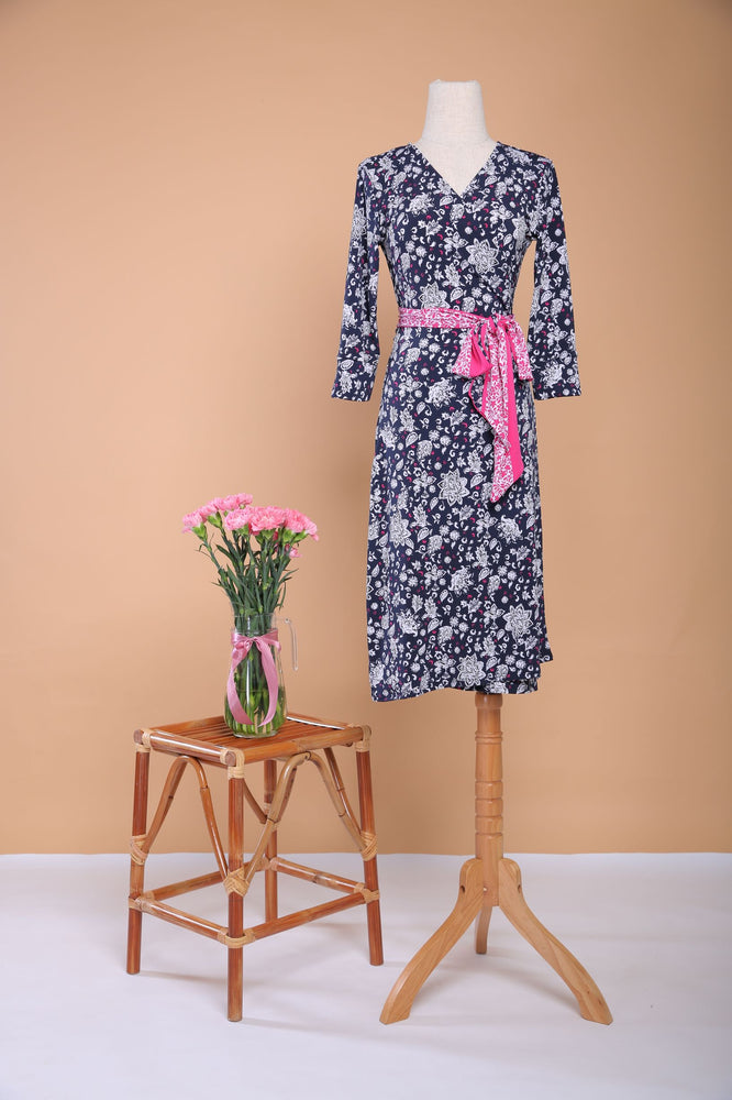 Load image into Gallery viewer, Libby Midi  Wrap Dress