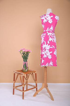 Load image into Gallery viewer, Fuschia-love Pleated Midi  Wrap Dress