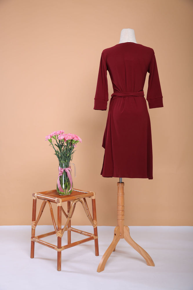 Scarlet Midi  Wrap Dress