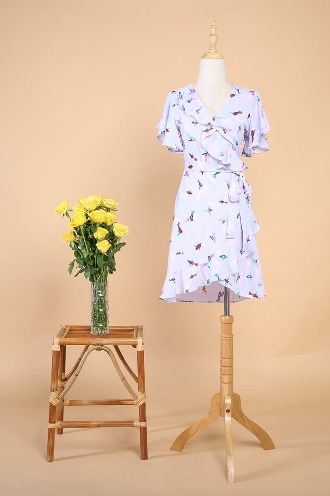 Chelsea Wrap Dress in Alice Wonderland