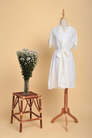 Multi-way Linen Drape Wrap Dress (Off-white)