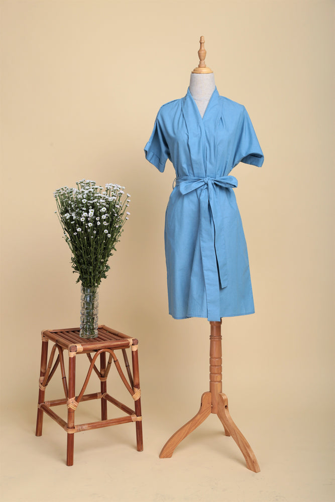 Multi-way Chambray Drape Wrap Dress