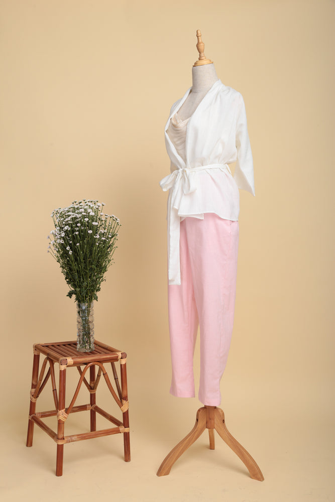 Multi-way Lightweight Linen Jacket (Off-white)